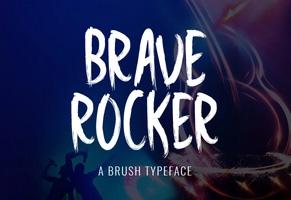 Brave Rocker英文字体-POP花型网