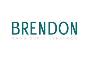 Brendon Sans Serif英文字体-POP花型网