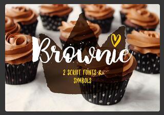 Brownie Brush Font英文字体-POP花型网