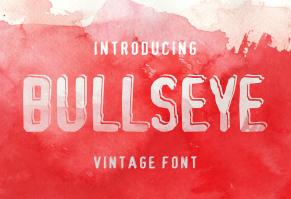 Bullseye - vintage font in 3 version英文字体-POP花型网