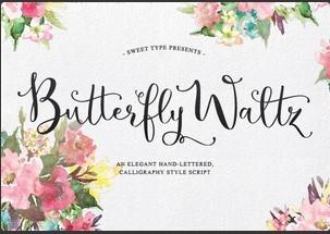 Butterfly Waltz英文字体-POP花型网