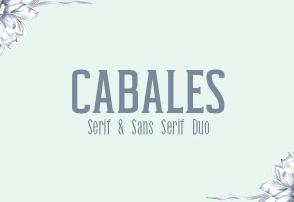 Cabales Duo Font英文字体-POP花型网