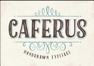 Caferus英文字体-POP花型网