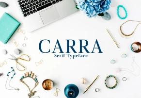 Carra Serif Typeface英文字体-POP花型网