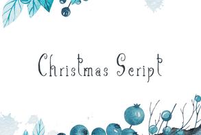 Christmas Script Font英文字体-POP花型网