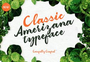Classic Amerizana Regular Typeface英文字体-POP花型网