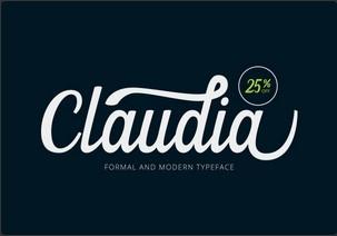 Claudia英文字体-POP花型网