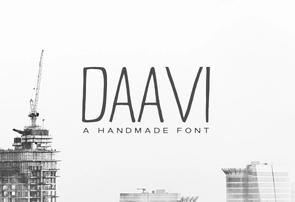 Daavi Sans Serif英文字体-POP花型网