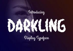 Darkling英文字体-POP花型网