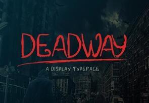 Deadway英文字体-POP花型网