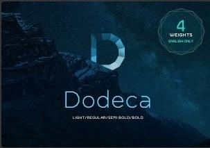 Dodeca Basic英文字体-POP花型网