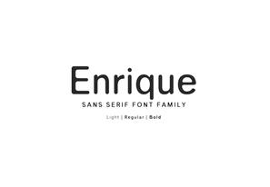 Enrique Sans Serif Font Family英文字体-POP花型网