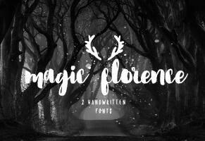 Florence Brush Font英文字体-POP花型网