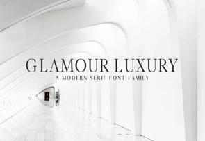 Glamour Luxury Serif Family英文字体-POP花型网