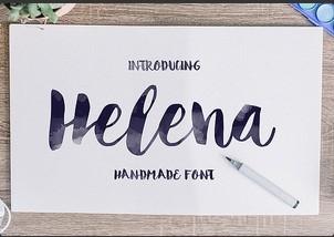 Helena英文字体-POP花型网