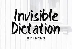 Invisible Dictation英文字体-POP花型网