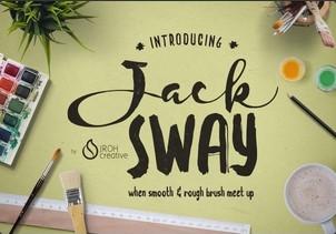 Jack Sway英文字体-POP花型网