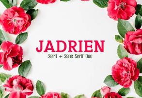 Jadrien Duo Font英文字体-POP花型网