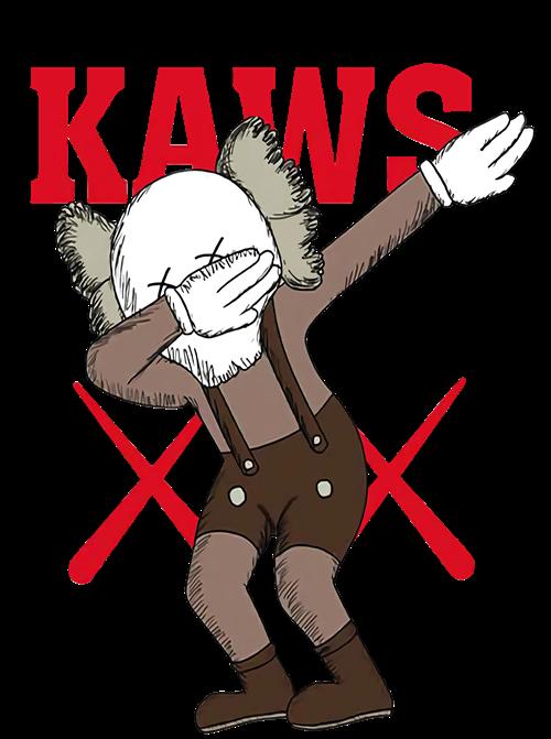 潮牌KAWS字母图案印花图服装裁片T恤烫图印花花型素材-POP花型网