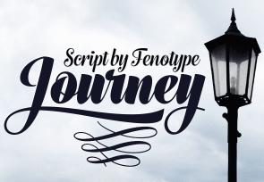 Journey英文字体-POP花型网