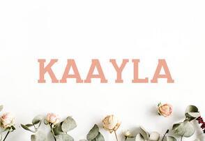Kaayla Slab Serif英文字体-POP花型网