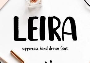 Leira Brush Font英文字体-POP花型网