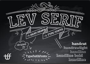 Lev Serif Hand-drawn英文字体-POP花型网