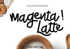 Magenta Latte英文字体-POP花型网