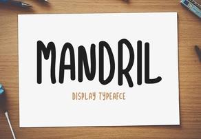 Mandril英文字体-POP花型网