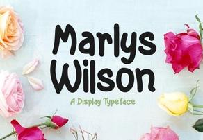 Marlys Wilson英文字体-POP花型网