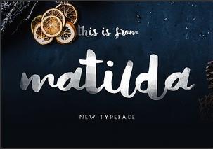 Matilda英文字体-POP花型网