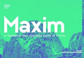 Maximus Sans Family英文字体-POP花型网