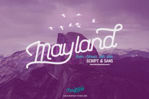 Mayland Typeface Duo英文字体-POP花型网