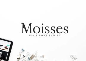 Moisses Serif Font Family英文字体-POP花型网