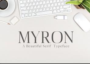 Myron Serif Typeface英文字体-POP花型网
