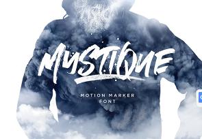 Mystique Marker Font英文字体-POP花型网