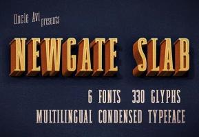 Newgate Slab英文字体-POP花型网
