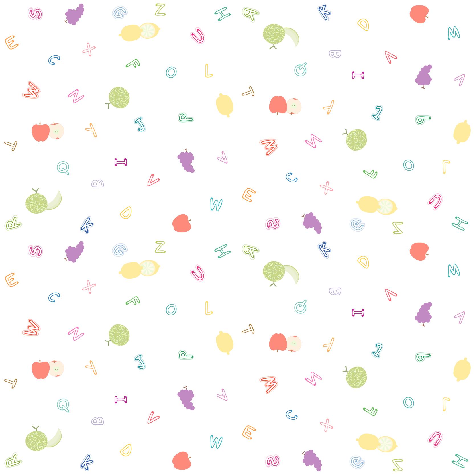 字母水果图案印花矢量图服装纺织数码印花花型素材-POP花型网