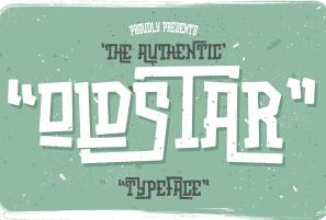 Oldstar Typeface英文字体-POP花型网