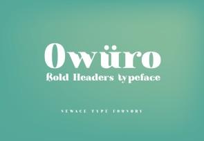 owuro英文字体-POP花型网