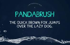 Pandabrush Typeface英文字体-POP花型网