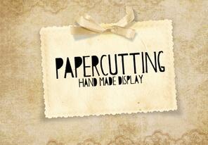 Papercutting Fonts英文字体-POP花型网