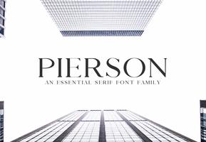 Pierson Essential Serif英文字体-POP花型网