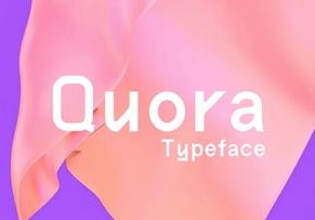 Quora Typeface英文字体-POP花型网