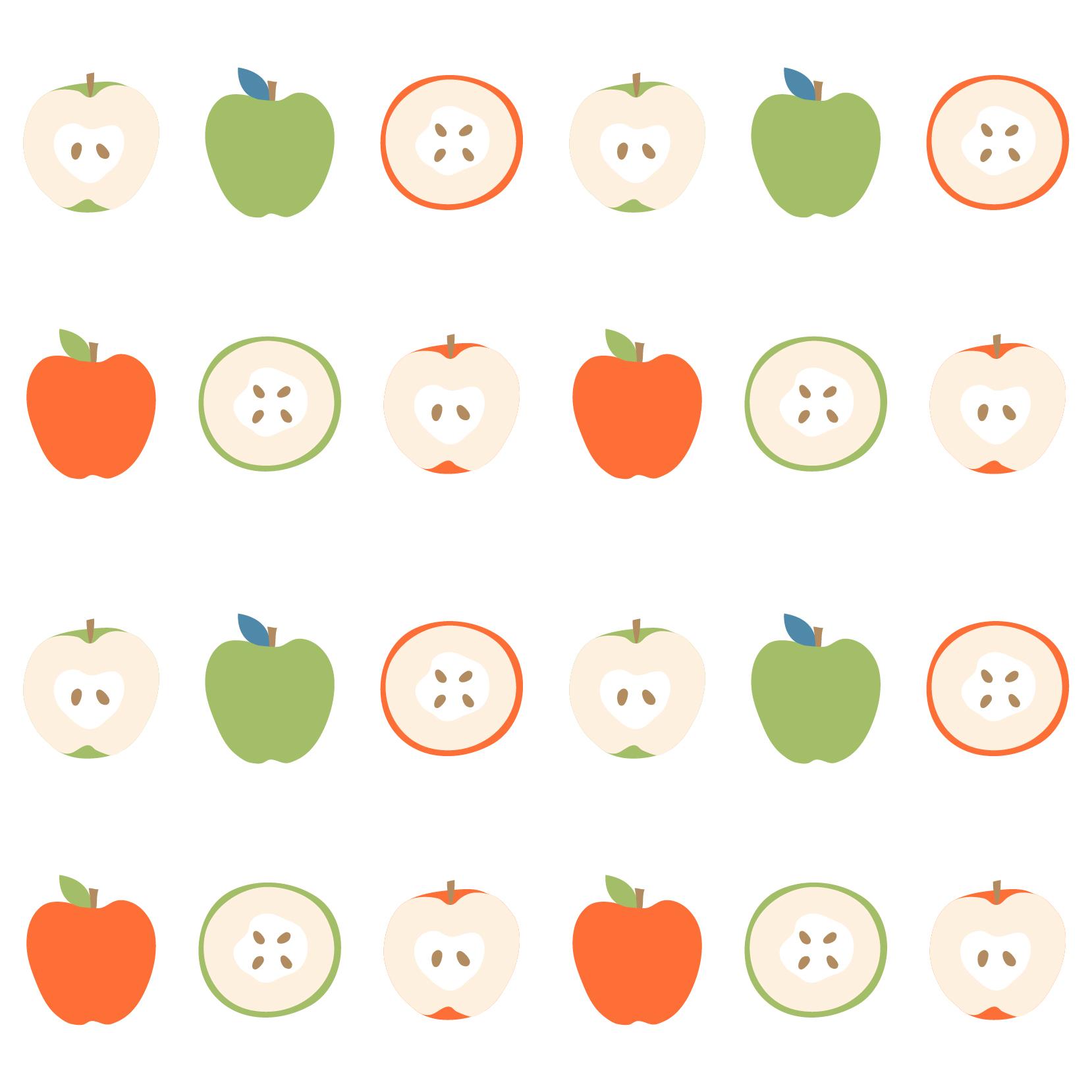水果苹果图案印花矢量图服装纺织数码印花花型素材-POP花型网