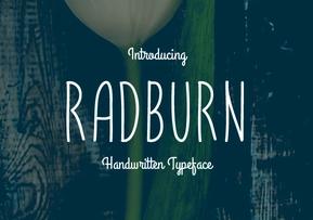 Radburn英文字体-POP花型网