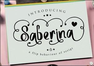 Saberina英文字体-POP花型网