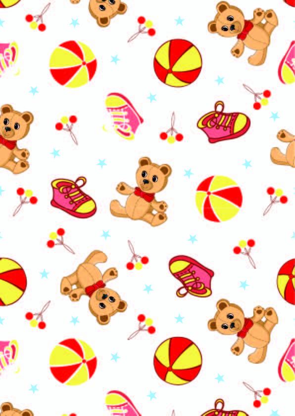 卡通熊鞋子印花图案矢量图服装纺织数码印花花型素材-POP花型网