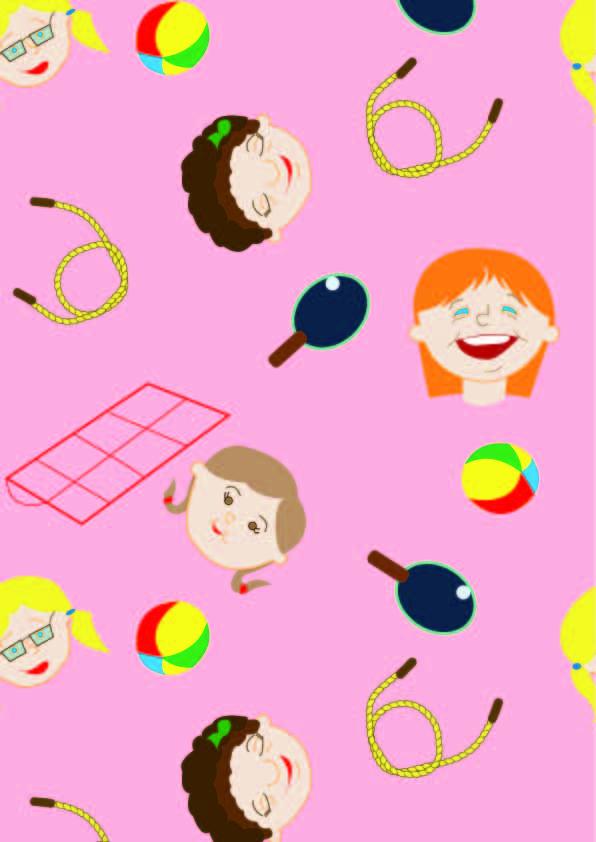 卡通人物图案印花矢量图服装纺织数码印花花型素材-POP花型网