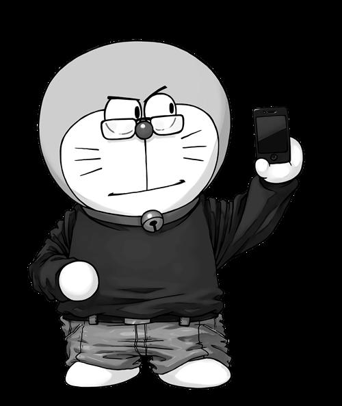 哆啦A梦印花图案服装裁片T恤烫图印花花型素材-POP花型网
